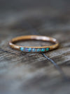 Rough Opal Ring with Hidden Gems in Gold