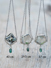 Prasiolite and Emerald Necklace