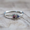 AA ANNISA Tanzanite and Tourmaline Ring - Gardens of the Sun Jewelry
