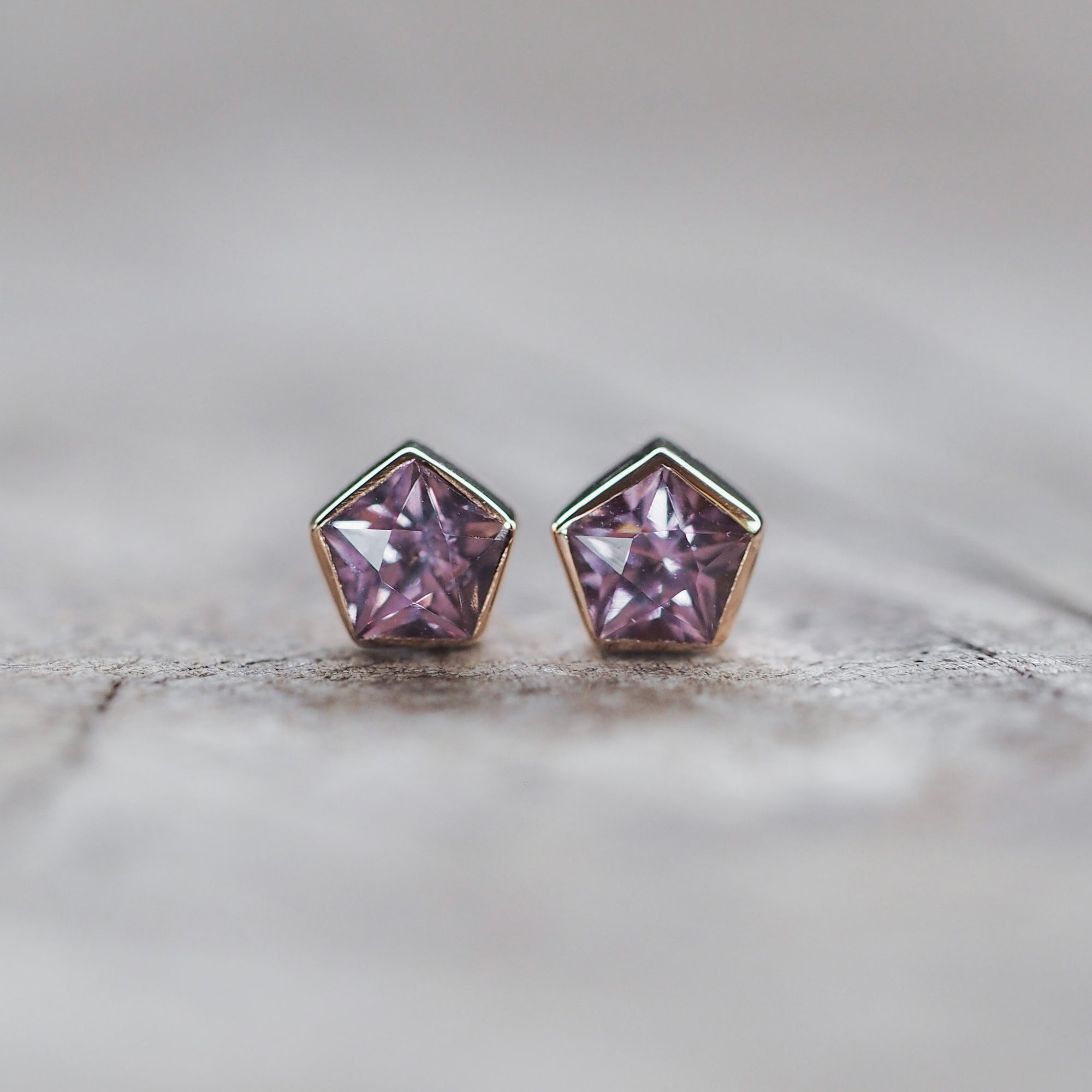 Spinel Star Earrings