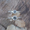 Salt and Pepper Diamond Ring in Eco Silver