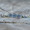 AA Mismatched Cornflower Sapphire Earrings in Eco Gold - Gardens of the Sun Jewelry