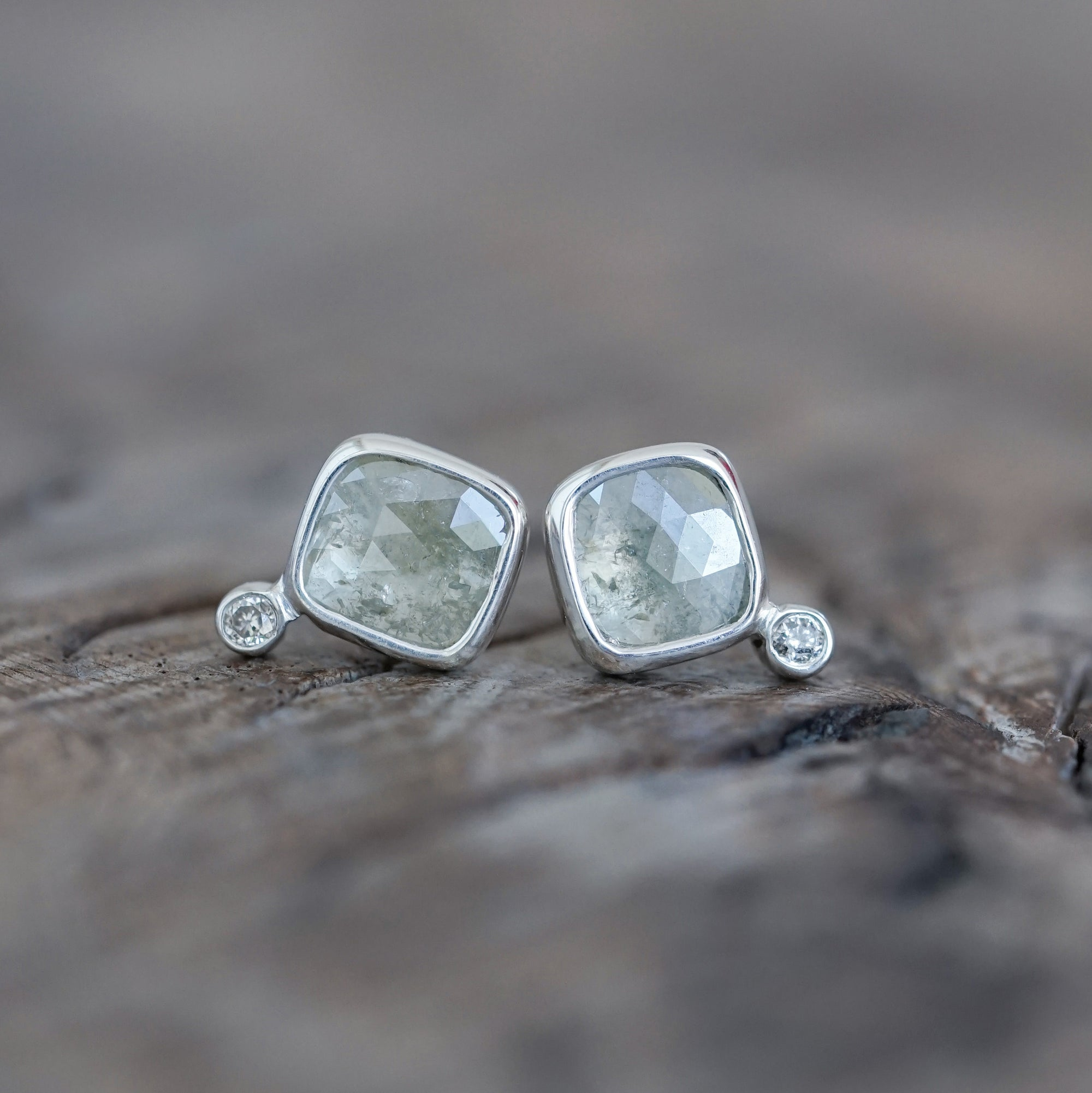 Grey Diamond Earrings