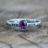 Winza Sapphire and Blue Diamond Ring in White Gold