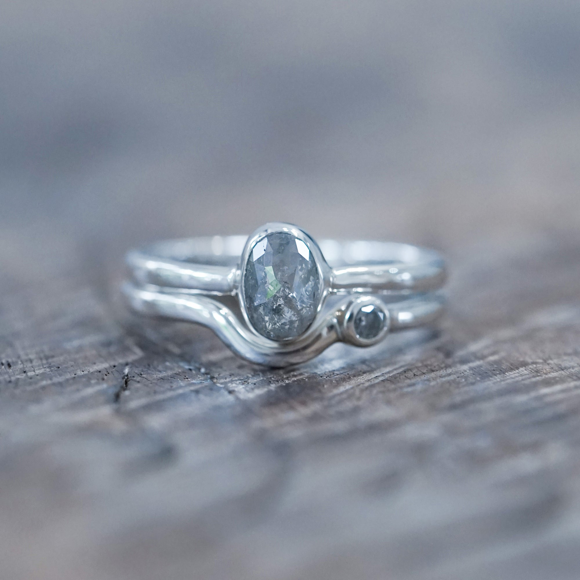 Oval Diamond Ring Set