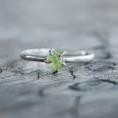 Rough Arizona Peridot Ring