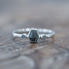 Geo Salt and Pepper Diamond Ring
