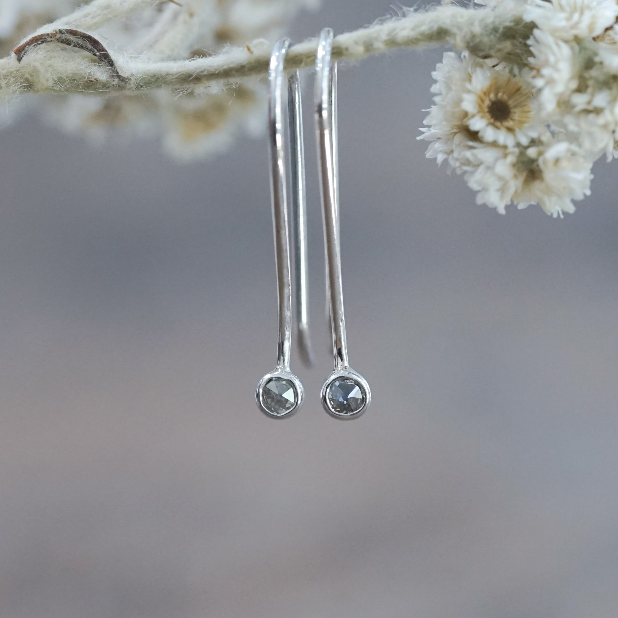 Long Borneo Diamond Earrings