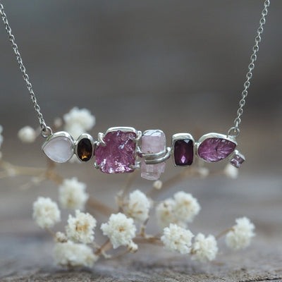 Pink Multistone Necklace