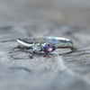 Pink Sapphire and Moonstone Ring