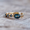 Blue Oval Sapphire Ring - Gardens of the Sun Jewelry