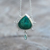 AA ATRI Pear Emerald Necklace - Gardens of the Sun Jewelry