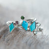 AA MERI PRICE Kite Turquoise and Tourmaline Ring - Gardens of the Sun Jewelry
