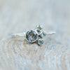 AA Meri Quartz and Green Sapphire Ring - Gardens of the Sun Jewelry