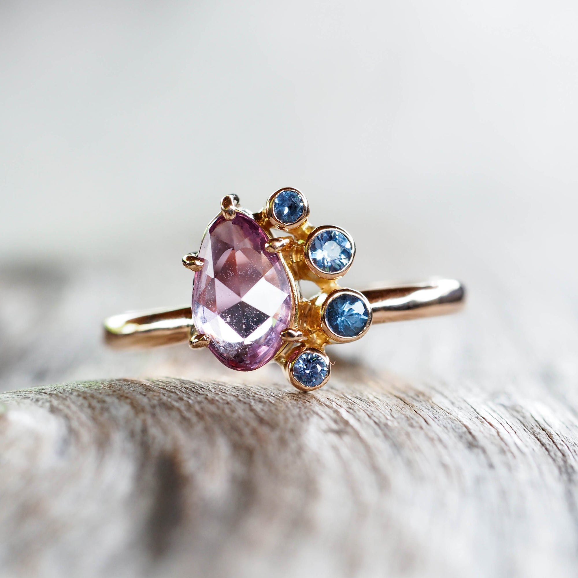 Violet Sapphire Ring in Rose Gold