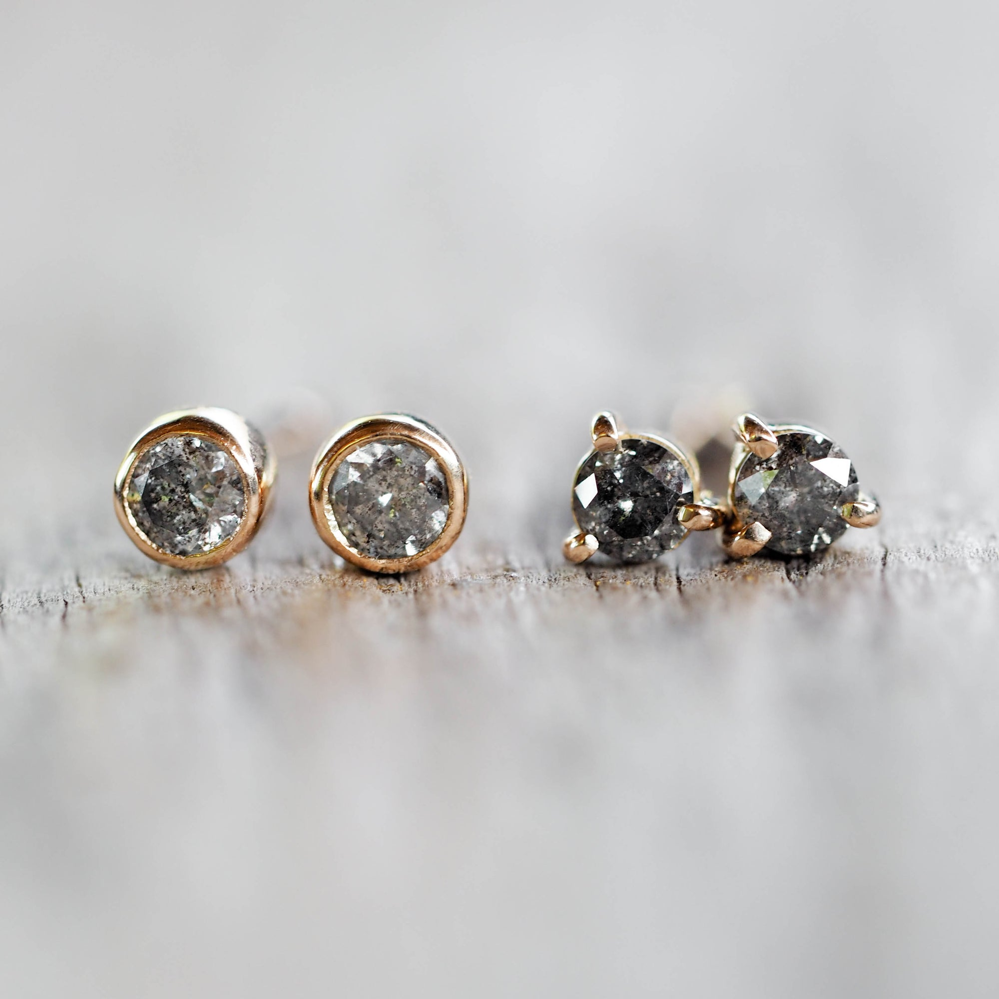 AA WEIGHT Round Diamond Earrings - Gardens of the Sun Jewelry