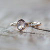 AA Grey Montana Sapphire Ring in Rose Gold - Gardens of the Sun Jewelry