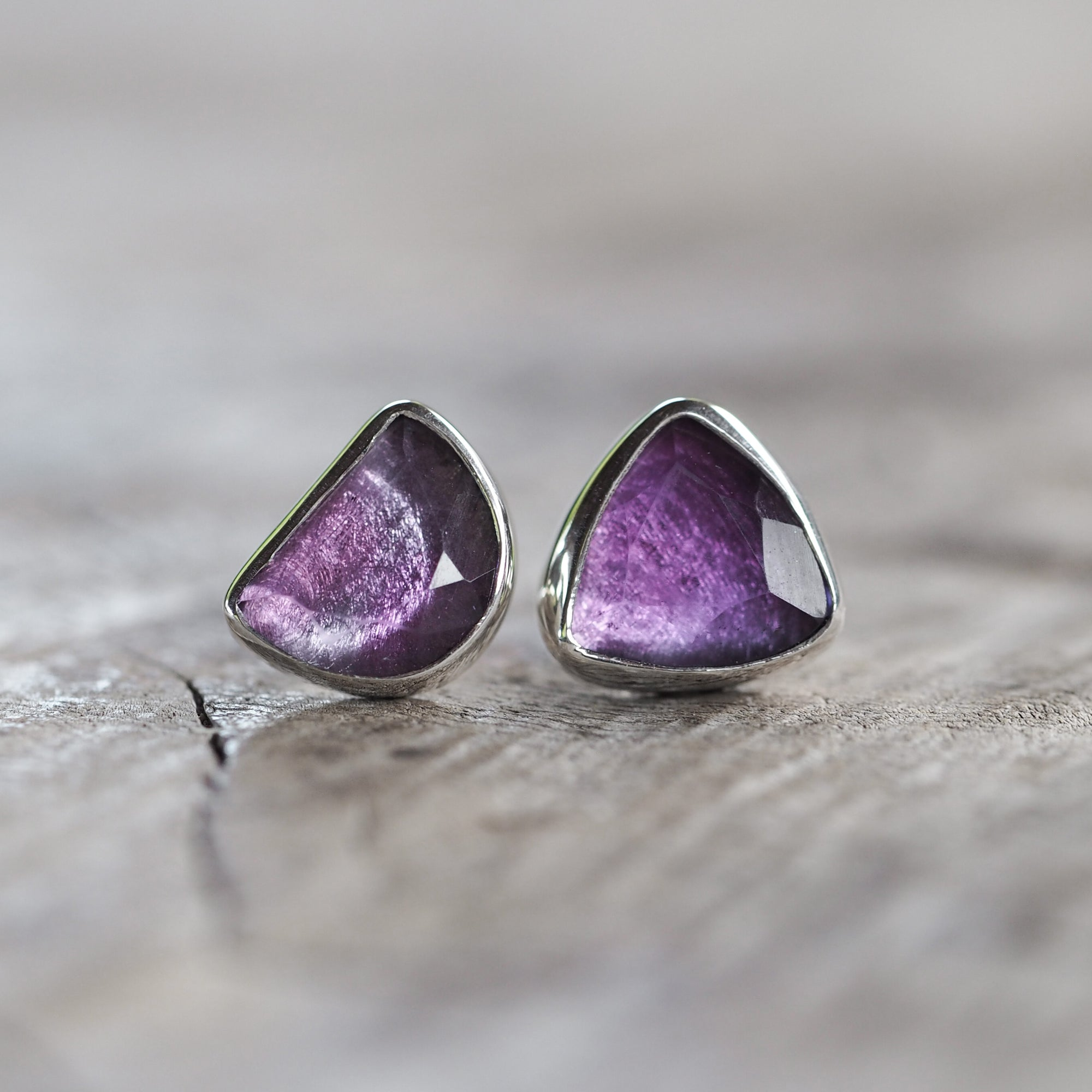 Amethyst Earrings - Gardens of the Sun Jewelry