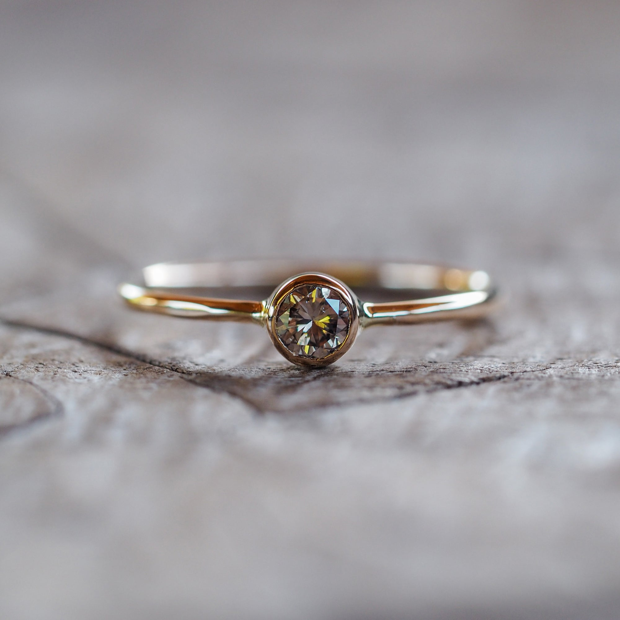 Arkansas Diamond Ring in Gold - Gardens of the Sun Jewelry