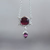 Hexagon Garnet Necklace