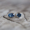 AA Meri check Mismatched Sapphire Earrings - Gardens of the Sun Jewelry