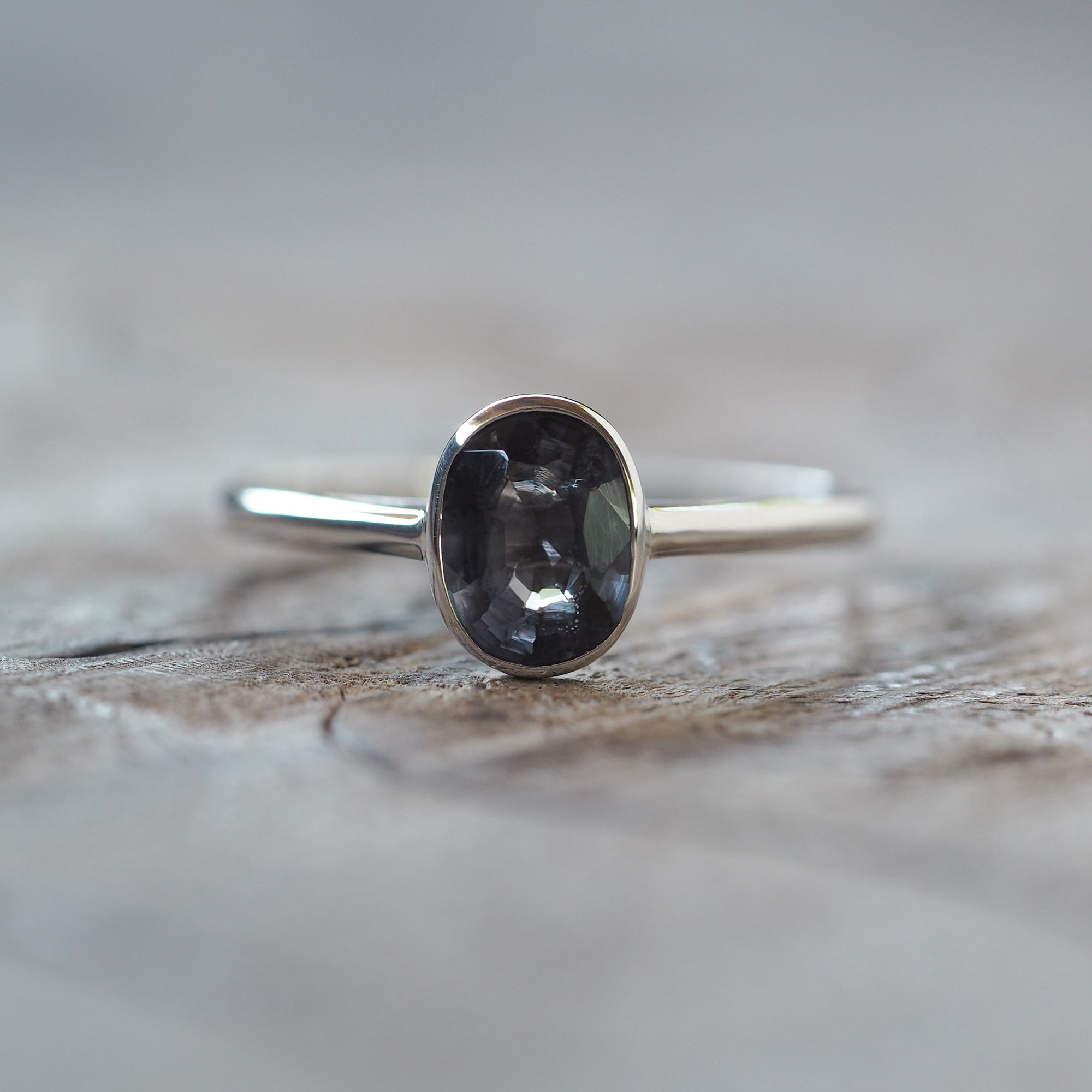 AA Dark Mauve Spinel Ring - Gardens of the Sun Jewelry