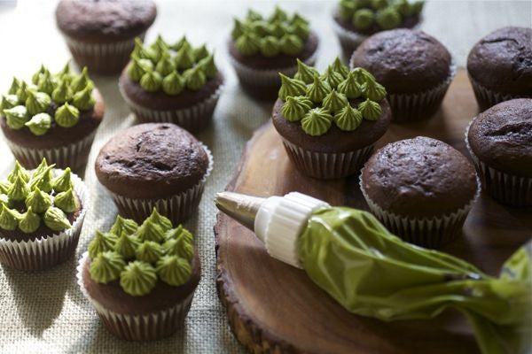 Super Chocolatey Cupcakes With Matcha Green Tea Frosting