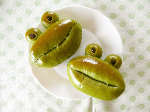 Frog Shaped Matcha Buns