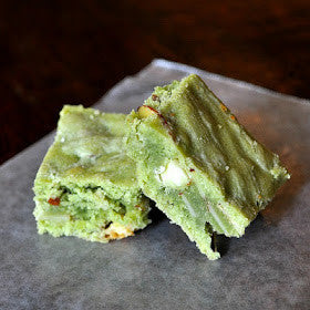 Matcha Green Tea White Chocolate Brownies