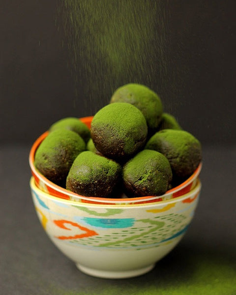 Chocolate Matcha Energy Balls