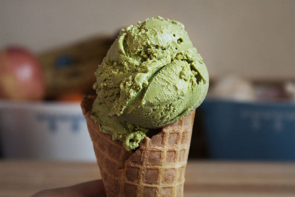 Matcha Ice Cream with Yuzu Citrus
