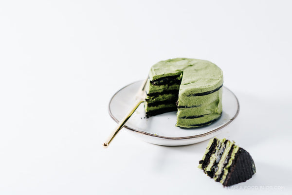 Mini Matcha Chocolate No-Bake Ice Box Cake