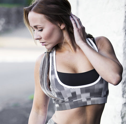 Mosaic Double Layer Sports Bra