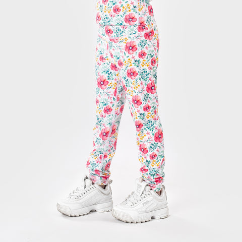 Sunset Floral Leggings Girls