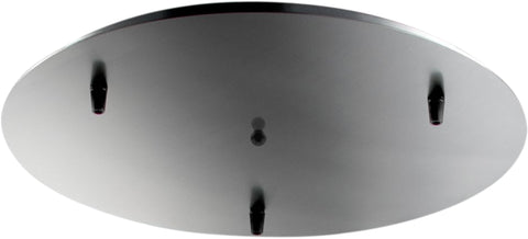 VM Imports Universal Backplate for Three Pendant Light in Black or Chrome