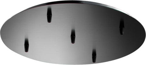 VM Imports Universal Backplate for Five Pendant Light in Black or Chrome