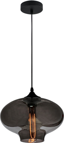 VM Imports Aria Pendant Light E27 in Grey Red or Clear 28cm