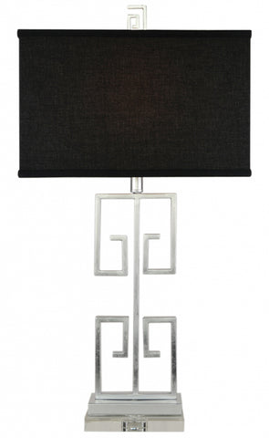 Cafe Lighting Acropolis Table Lamp Black Silver or Gold in 78cm