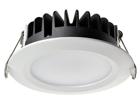 Vibe LED Downlight Dimmable in White or Brushed Chrome 12W 11cm