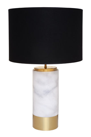 Cafe Lighting Paola Table Lamp Black Shade 62cm