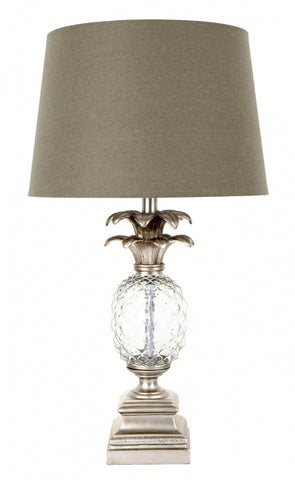 Cafe Lighting Langley Pineapple Table Lamp in Silver or Gold B22 66cm