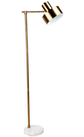 Cafe Lighting Marlin Floor Lamp Brass in 157cm