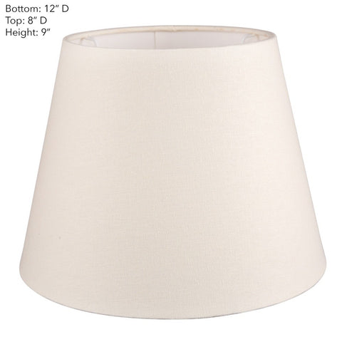 Emac Lawton Lamp Shade in Black Ivory or Natural in 31cm