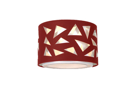 VM Imports Aldo Pendant Light DIY Shade in Red and Black 30cm