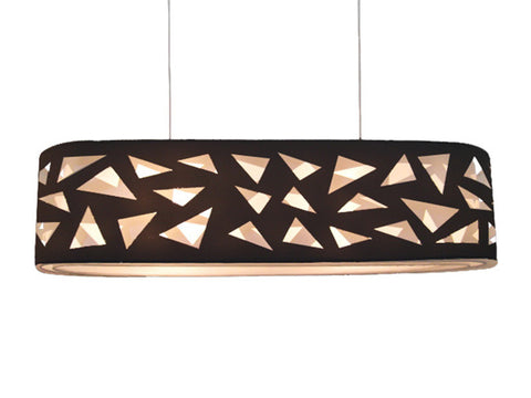 VM Imports Aldo Pendant Light Oval E27 in 90cm