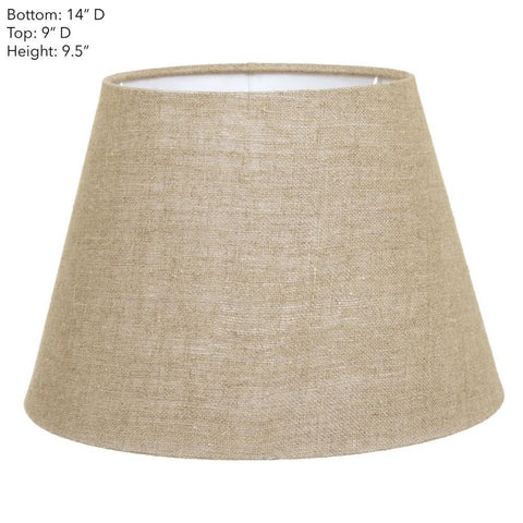 Emac Lawton Lamp Shade in Black Ivory or Natural 56cm