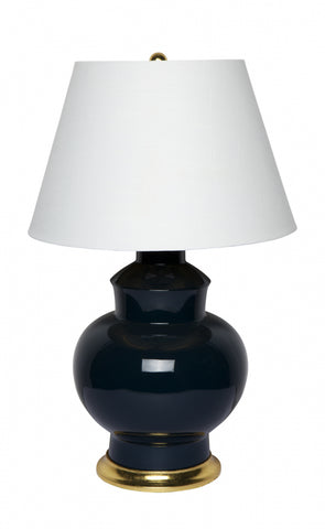 Cafe Lighting Torrence Table Lamp Black or Grey w Green B22 in 72cm