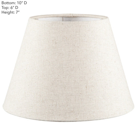 Emac Lawton Lamp Shade in Black Ivory or Natural 25cm