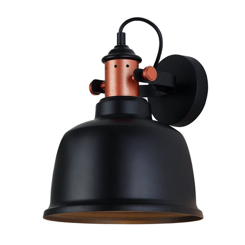 CLA Lighting Alta Wall Light Adjustable Bell in Matt Black Grey or White 27cm