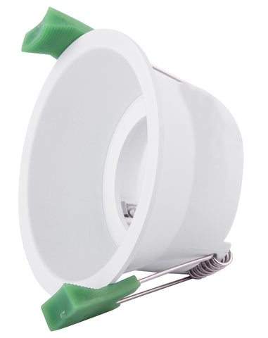 CLA Arc Downlight Fitting Fixed Round Low Glare Matt White in 9cm